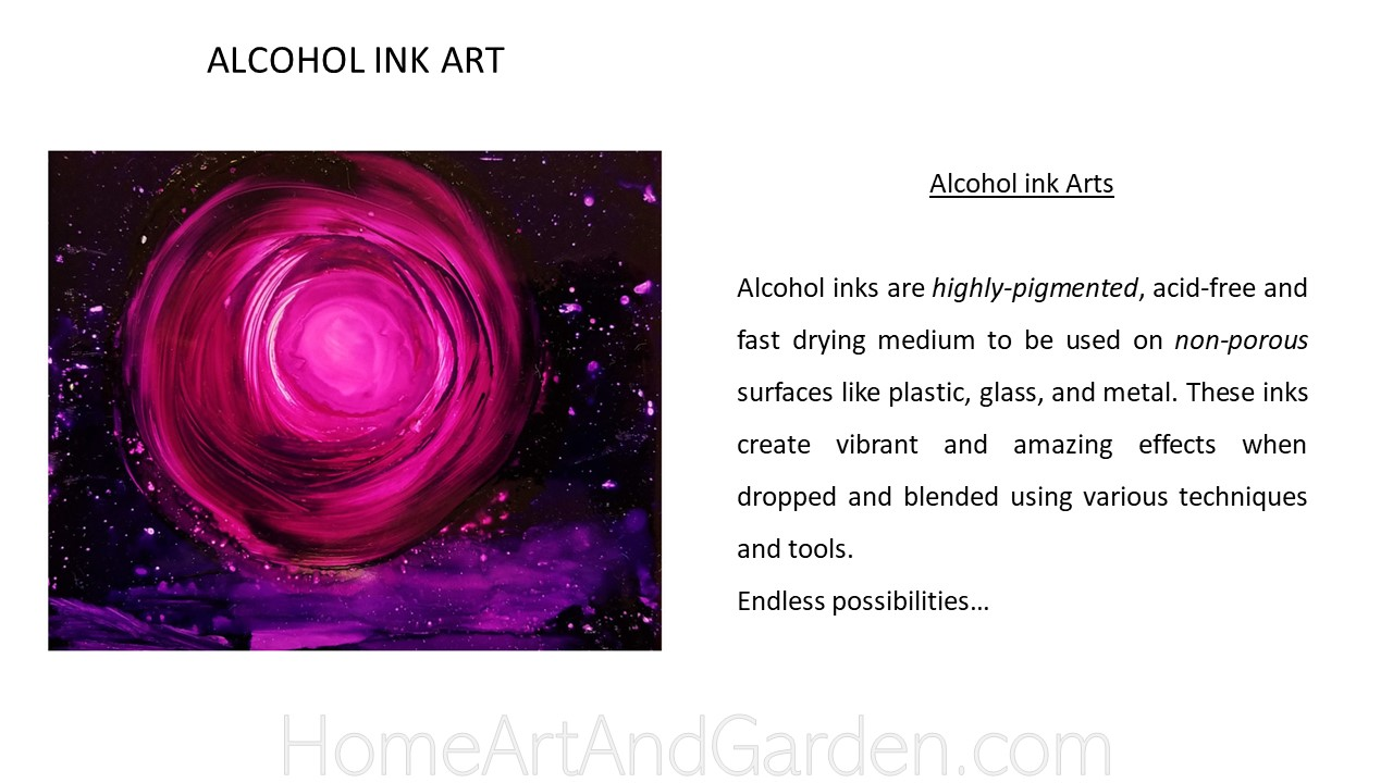 Creative Art Smart I - Alcohol ink art