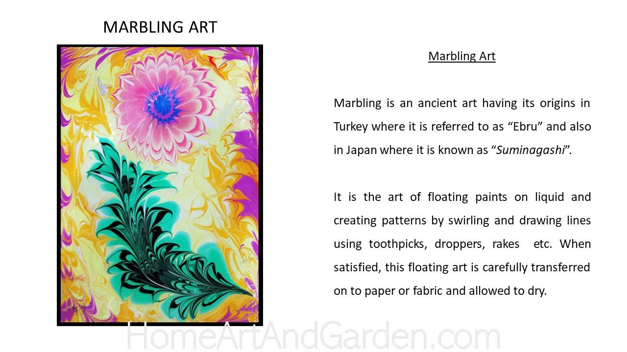Creative Art Smart I - Marbling art