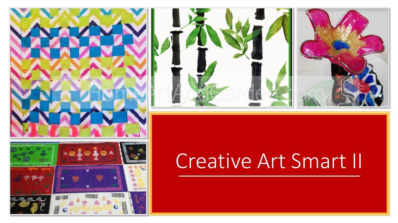 [COMPLETED] Art Smart II (Block printing, Kente cloth, Flexible Glass-like sculptures, Sumi-e Lanterns) June 24-27, 2019 (Mo-Th)