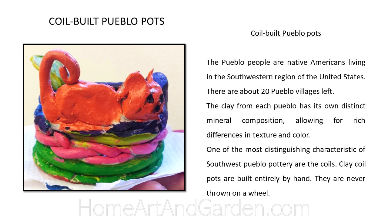 Creative Art Smart III - Pueblo Coil-pots using air-dry clay