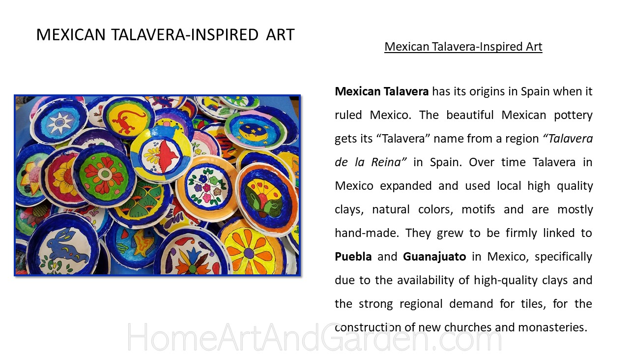 Creative Art Smart III - Mexican Talavera pots using air-dry clay